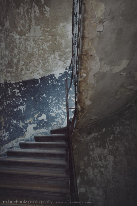 An Old Stairwell; Budapest, Hungary