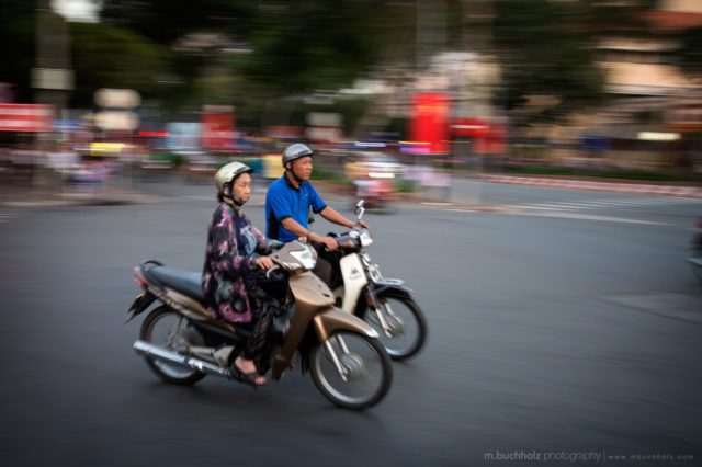 Motorbiking in Saigon; Ho Chi Minh City, Vietnam