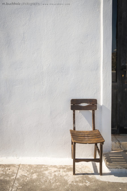 A Lone Chair; Imerovigli, Santorini, Greece