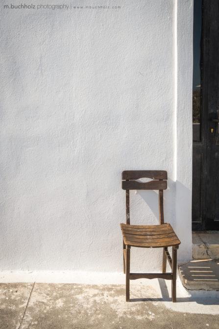 A Lone Chair; Imerovigli, Santorini, Greece