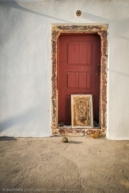 Red Church Door; Oia, Santorini, Greece
