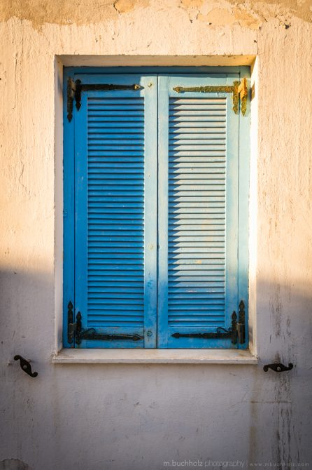 Windows Shutters; Naxos, Greece