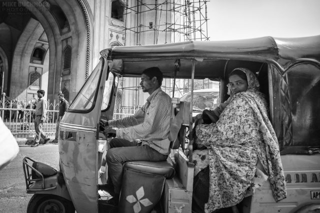 Traveling Through Charminar; Hyderabad, India