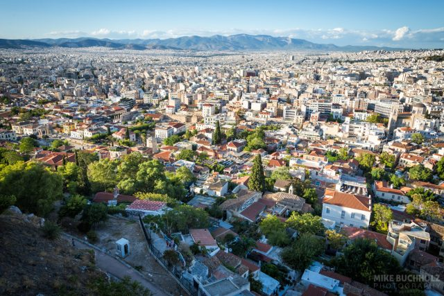 A Greek Skyline; Athens, Greece