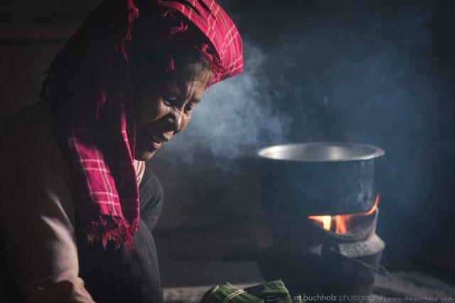 Preparing Dinner; Kalaw, Myanmar