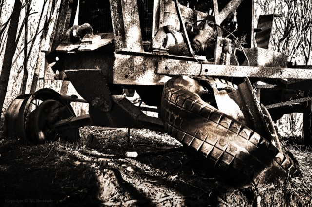 Rusted Tractor; Wagon Hill Farm