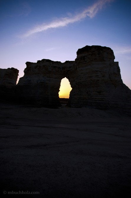 Monument Rocks National Natural Landmark; Grinnell, KS