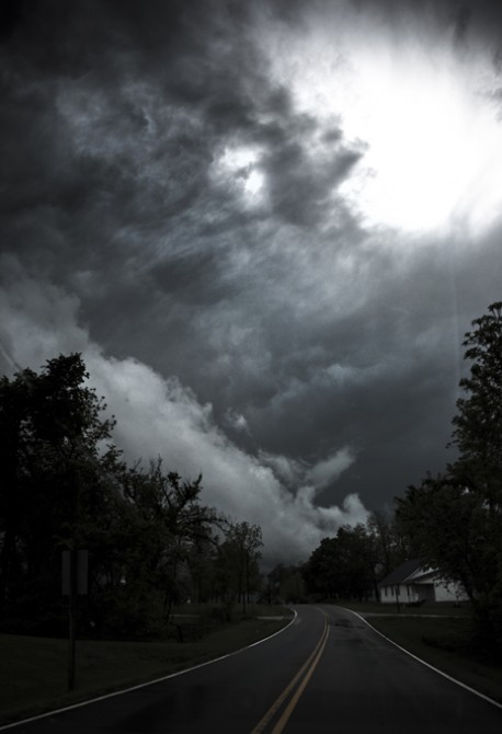 Storm clouds near Springfield, Missouri