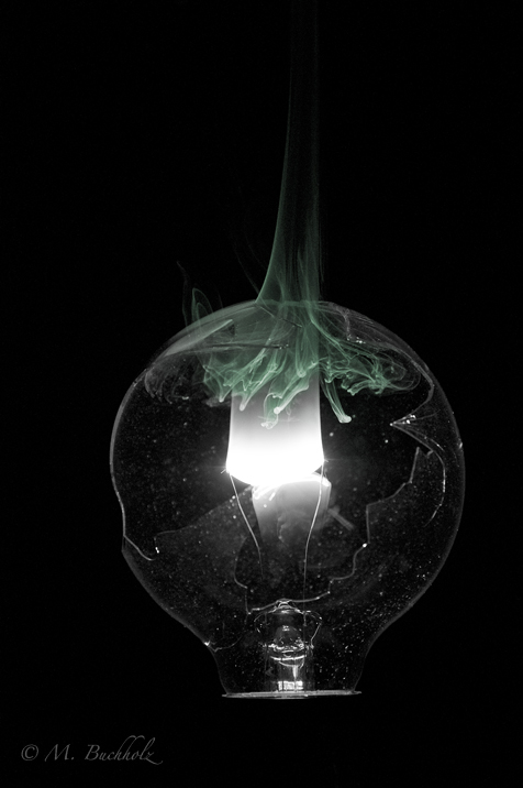 Burning light bulb filament