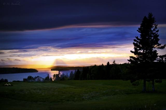Sunset at Bras d'Or Lake, Nova Scotia