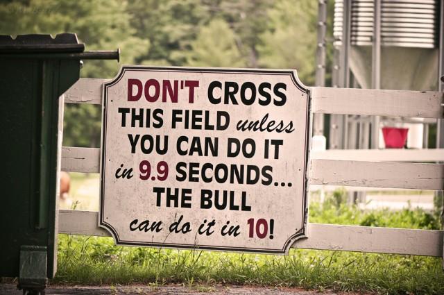 Don't Cross Unless