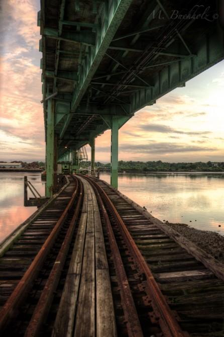 Rail Bridge at Sunset; Portsmouth, NH