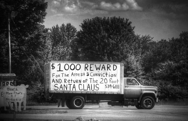 $1000 Reward for the Return of Santa Claus