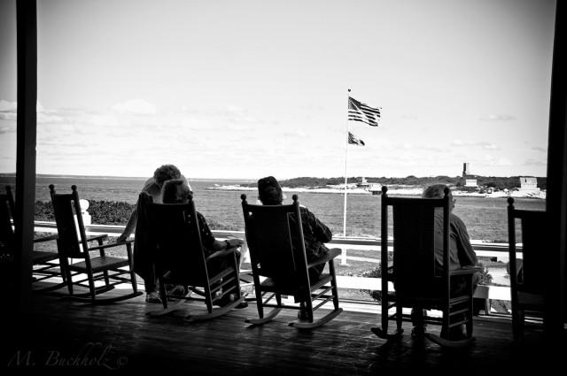 Star Island Conference Center Overlooking Gosport Harbor to Appledore Island
