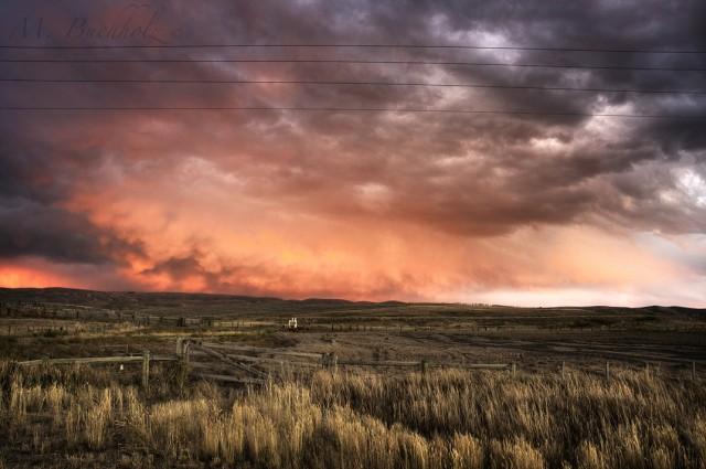 Storm Passing Through Wyoming