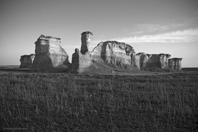 Monument Rocks; Kansas